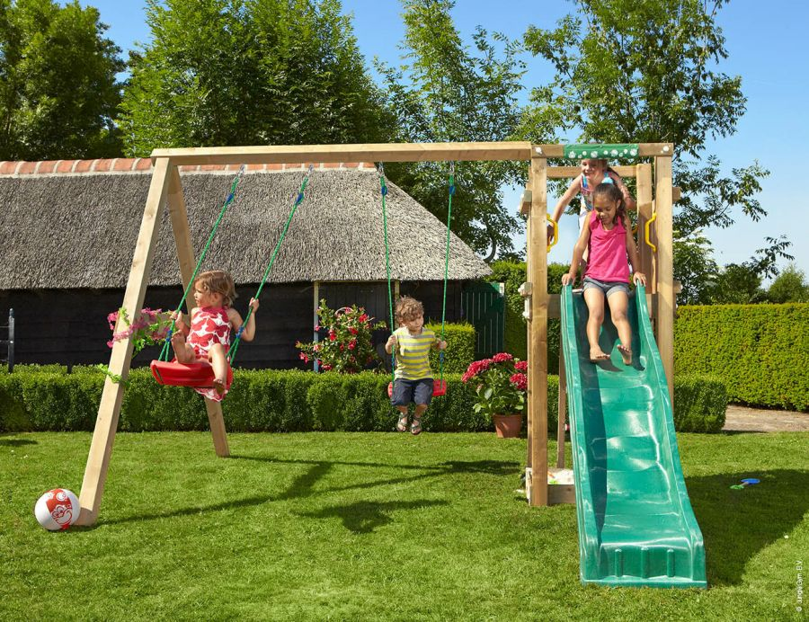 Jungle Gym Tower and Double Swing set