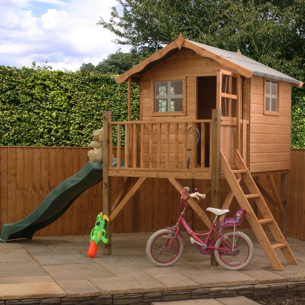 5' x 5' Wooden 'Poppy' Playhouse (Tower with Slide)