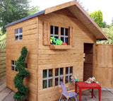 Double-storey wooden playhouse