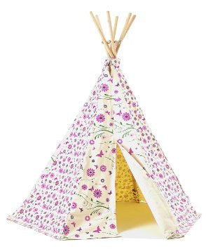 Flower and Butterfly Design Wigwam