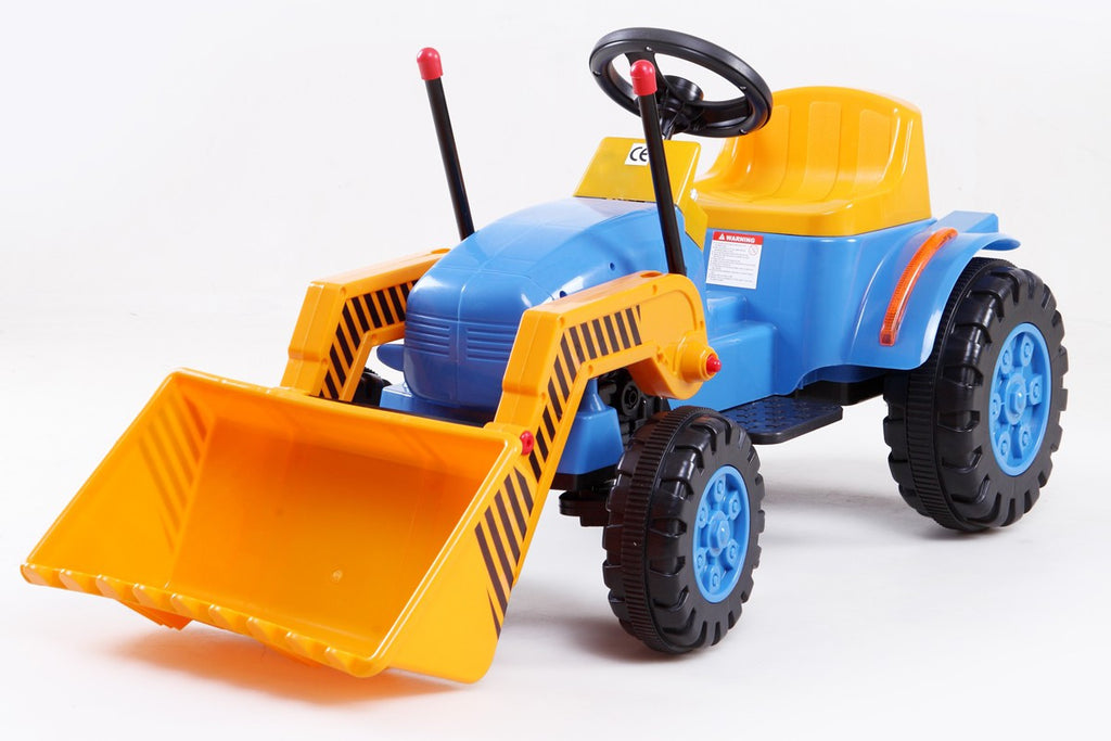 Electric 6V Ride-On Tractor with MP3 Port