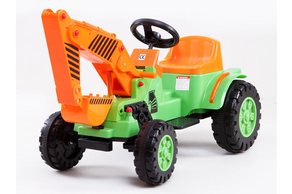 Electric 6V Ride-On Digger with MP3 Port