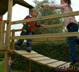 Wooden Bridge for Action Climbing Frames