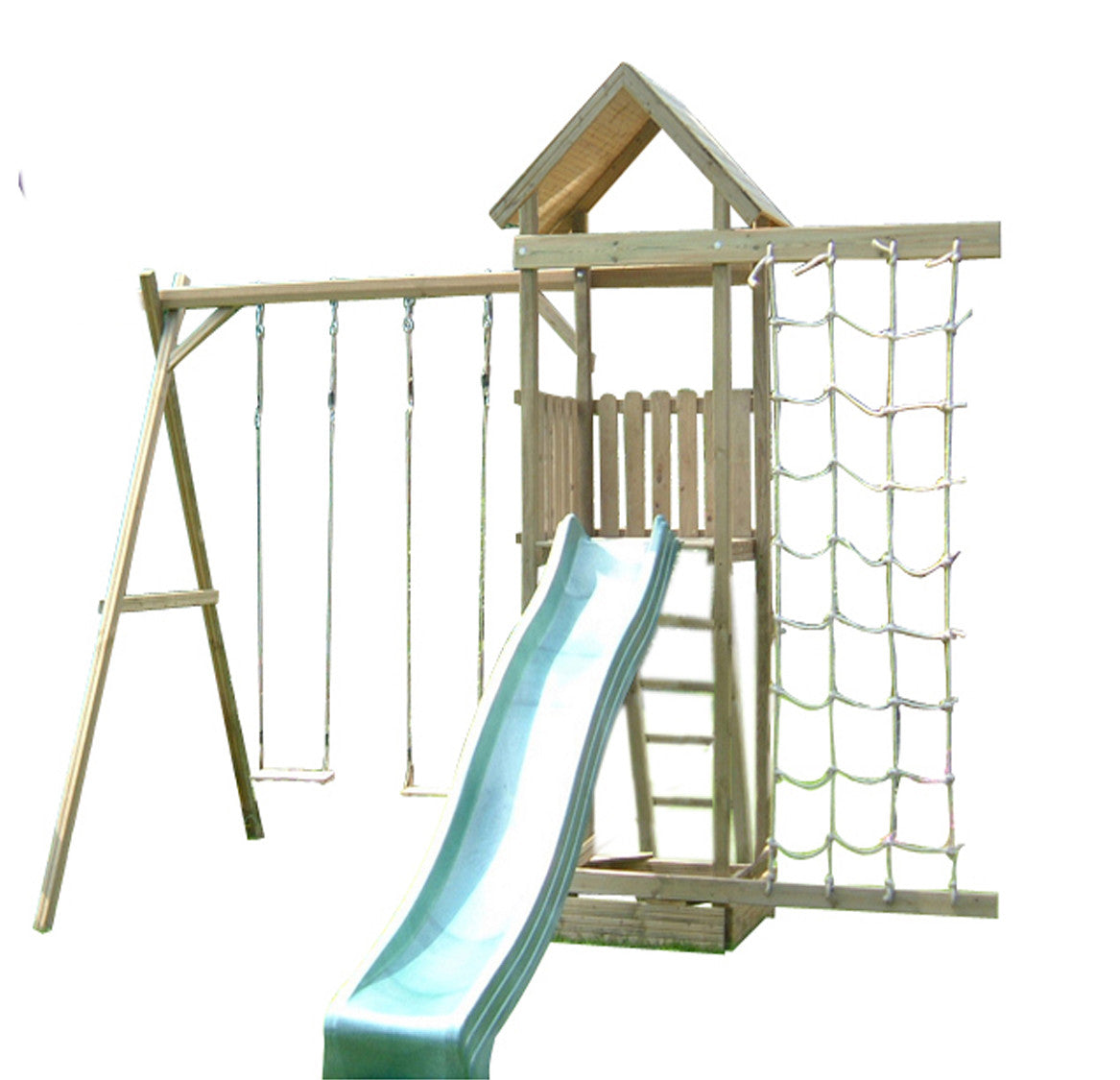 Action Arundel 1.5m Wooden Climbing Frame Tower with Swings and ...