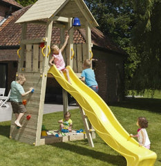 Blue Rabbit Belvedere Climbing Frame Tower with Slide (1.5 or 1.2m high platform) - OUT OF STOCK