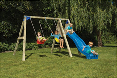 Blue rabbit deck swing