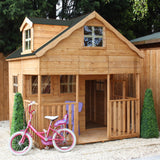 7' x 7' Deluxe Wooden 'Dormer' Playhouse (with Dormer and Veranda)