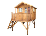 Raised wooden Playhouse...how cool?