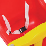 Baby swing seat safety strap