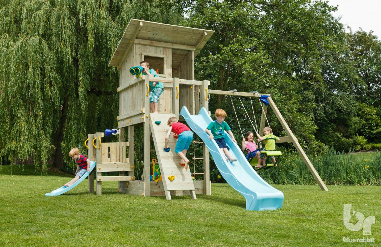 Beach Hut climbing frame with swing and junior platform
