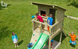 Blue Rabbit Beach Hut Climbing Frame Tower and Slide (1.5 or 1.2m platform height) - Out of Stock