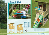 Blue Rabbit wooden 'Beach Hut' climbing frame