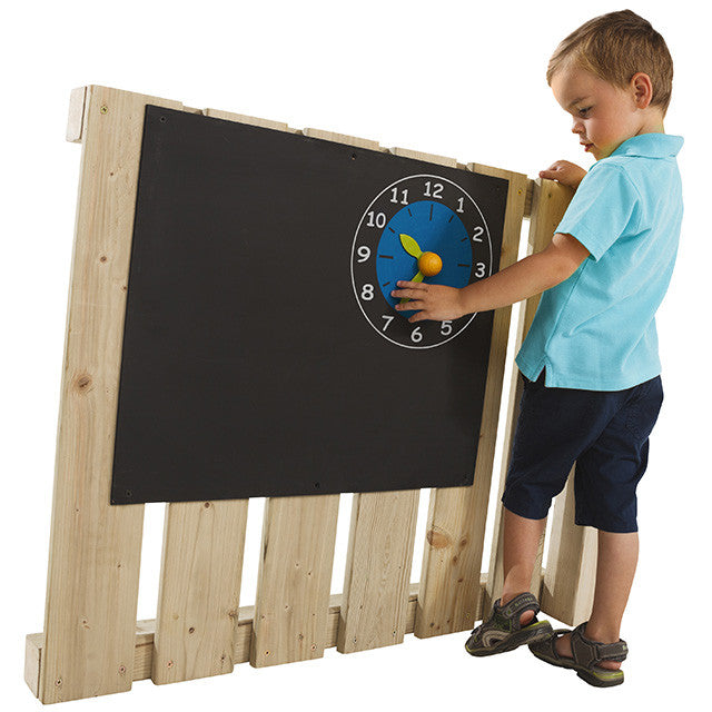 Blackboard for wooden climbing frames or playhouses