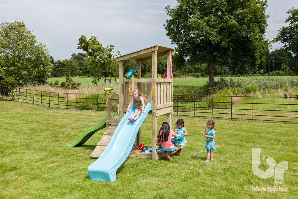 Blue Rabbit Cascade Tower with Slide - 1.2m platform height