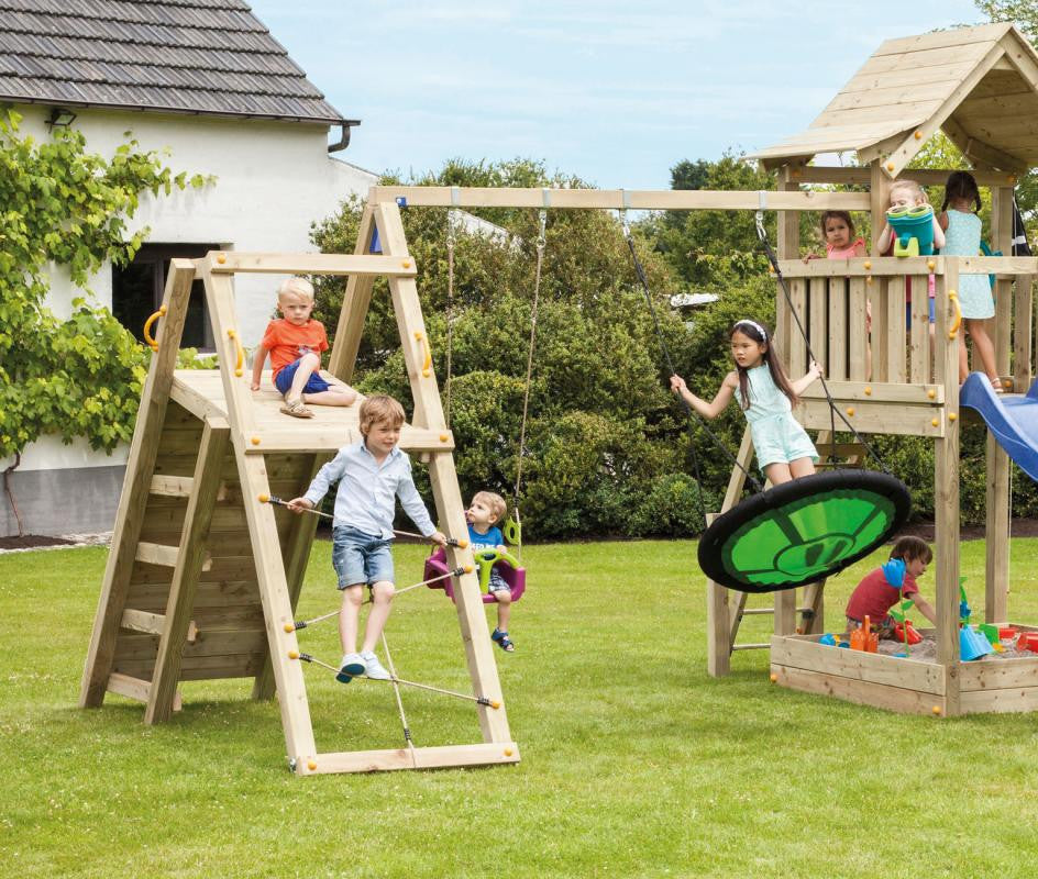 Challenger Swing Arm Blue Rabbit Play Towers