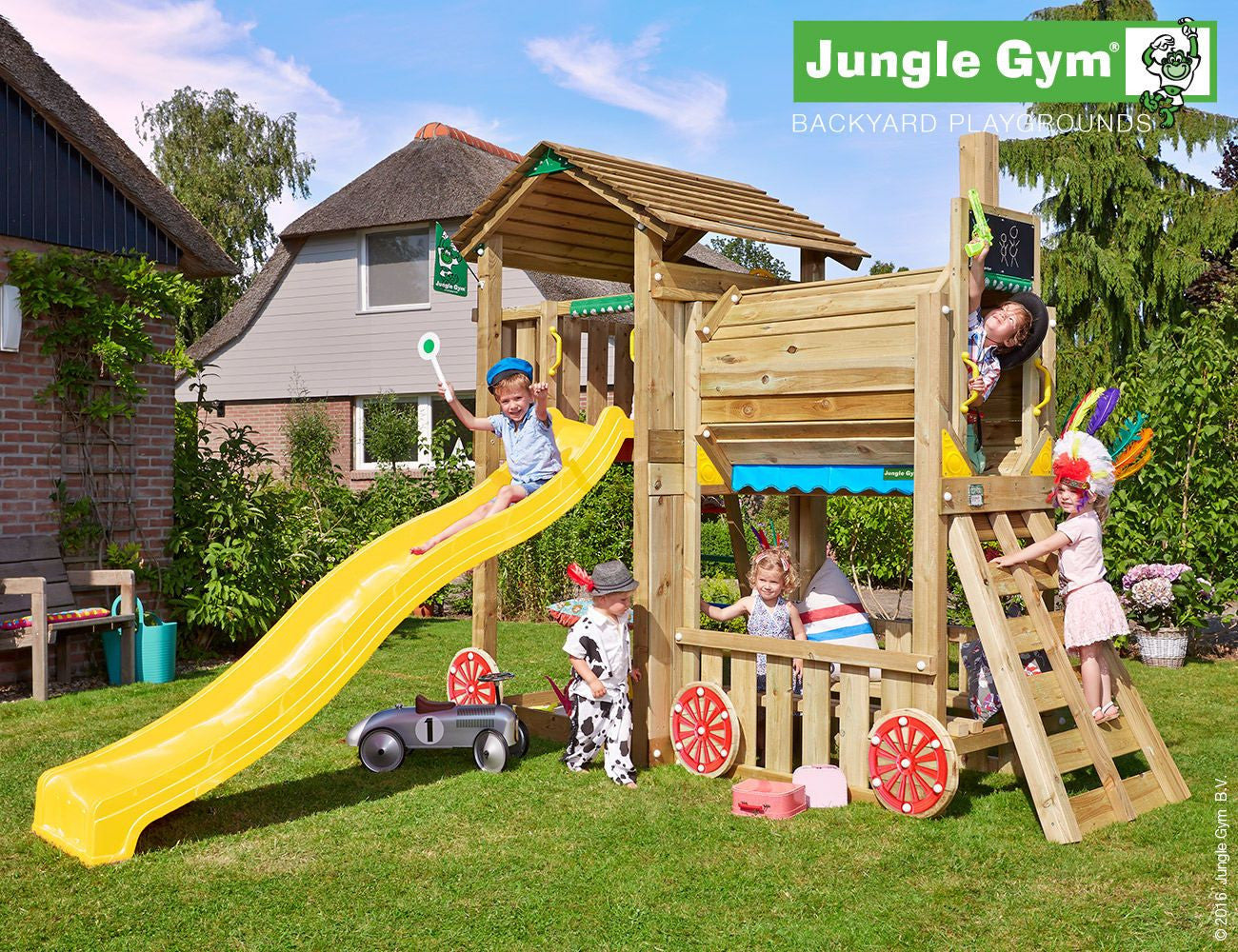 jungle gym cottage train climbing frame optional swing arm garden toy store. Black Bedroom Furniture Sets. Home Design Ideas