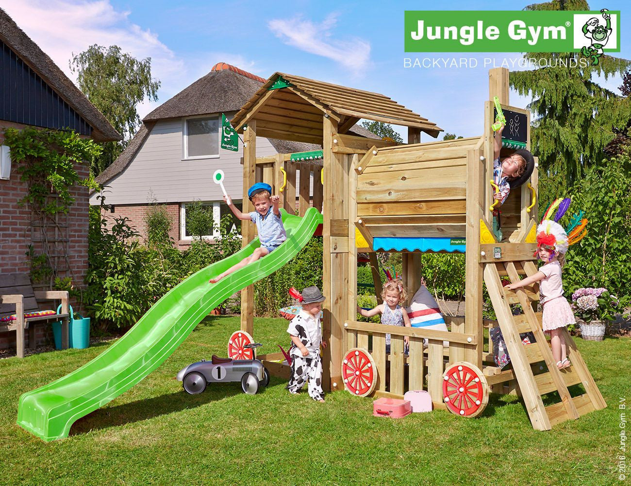 Jungle Gym Cottage Train Climbing Frame Optional Swing Arm