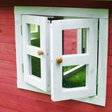 Crooked Mansion playhouse window frame