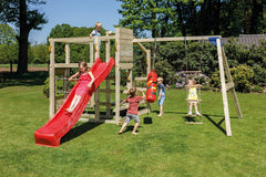 Blue Rabbit Crossfit climbing frame with swing arm