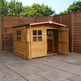 5' x 5' Wooden 'Rose' Playhouse (Tower with Slide)