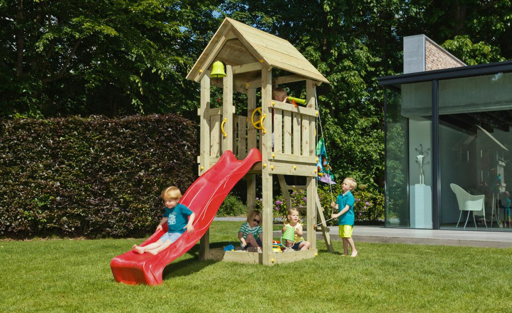 Blue Rabbit Kiosk Climbing Frame Tower with Slide - (1.5m or 1.2m platform height)