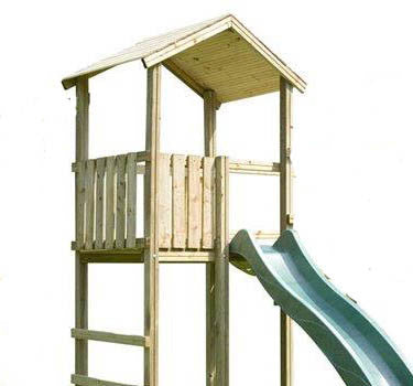 Action Monmouth 1.5m Wooden Climbing Frame Tower with optional slide