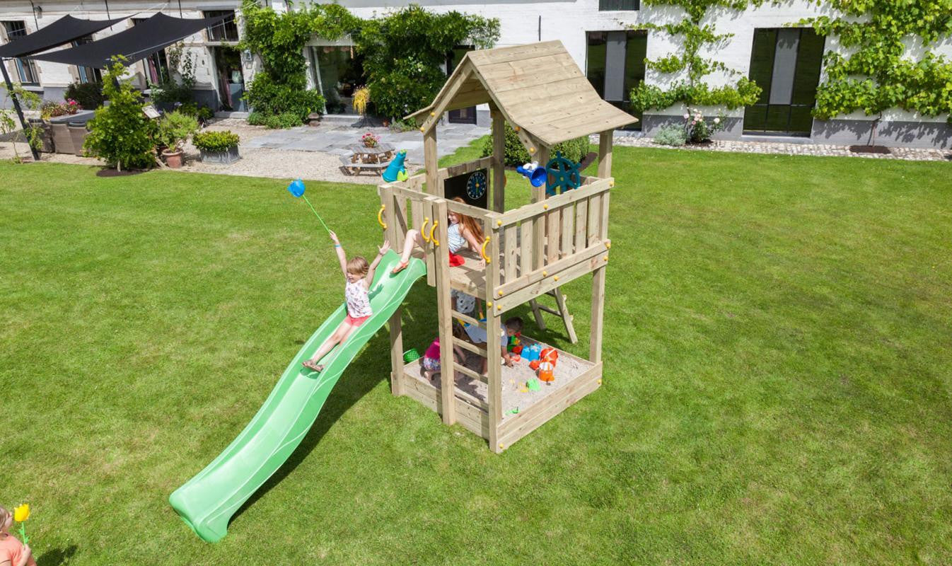 Blue Rabbit Pagoda Climbing Frame Tower and Slide (1.2 or 1.5m platform height)