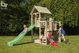 Blue Rabbit Penthouse Tower with 3 Platforms, Large Slide and Optional Small Slide