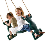 Swings: Good for one; Awesome for two! Rocket Riders rule!