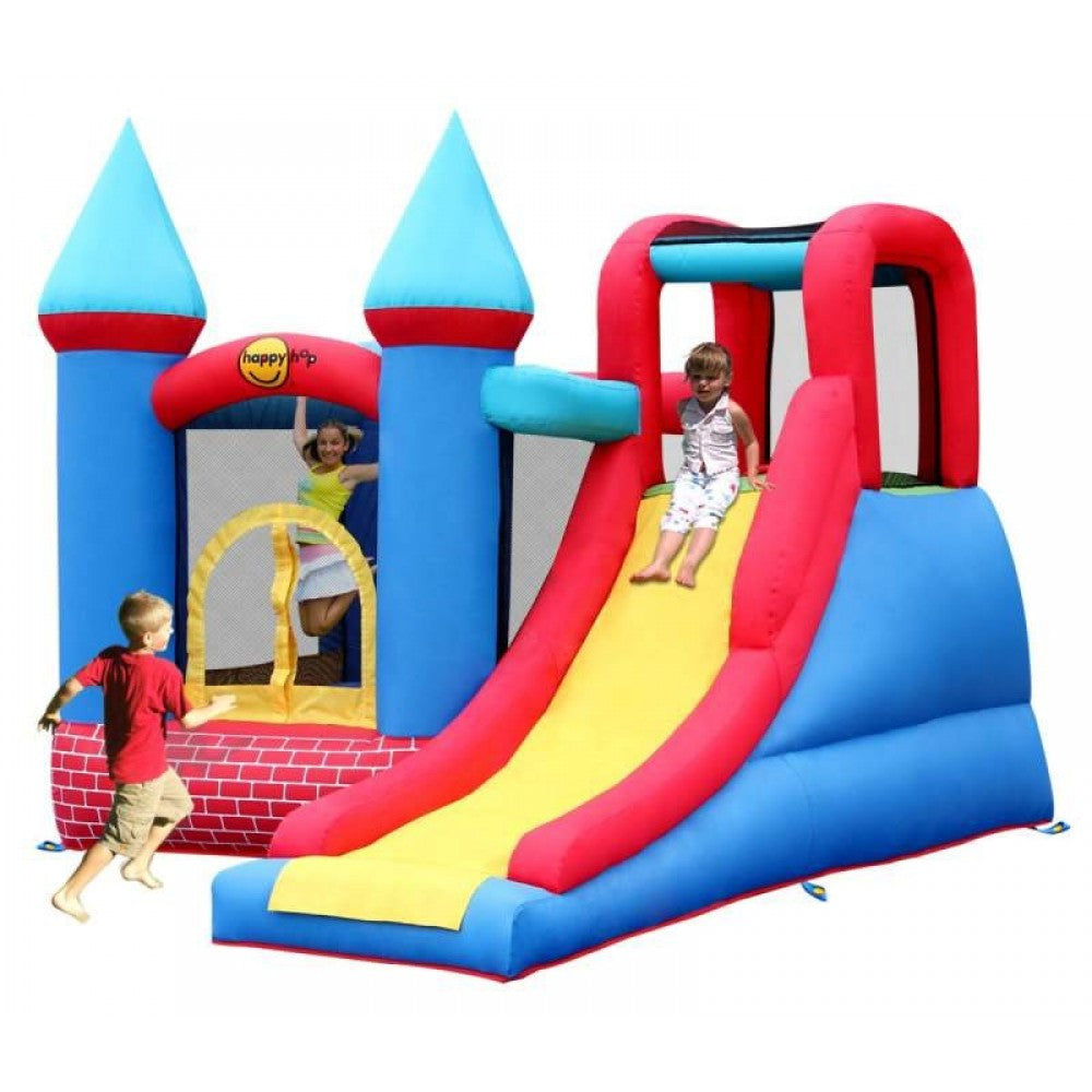 Red Bricks Bouncy Castle with Large Slide