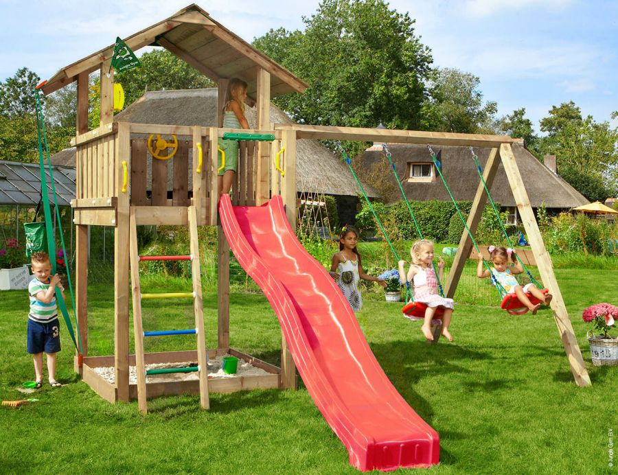 Jungle Gym Chalet Climbing Frame with Swing Arm