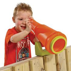 Telescope accessory for wooden climbing frames