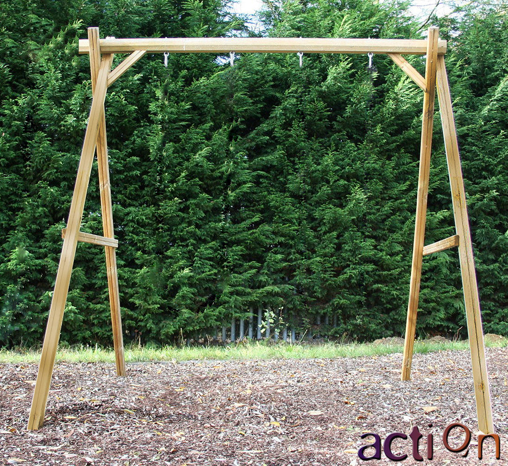 Action Victory 3m Wooden Standalone Swing Set