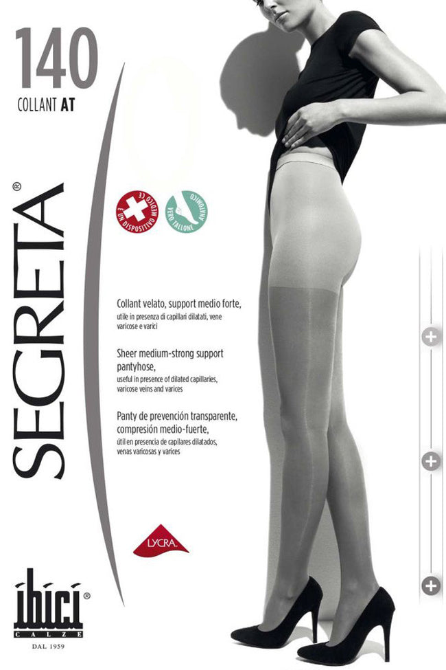 Segreta Collant 140 Support Pantyhose - Spike Angel - 1