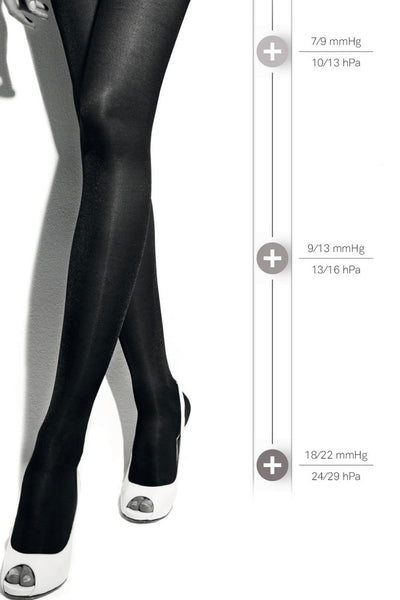 Collant 140 Punta Aperta Open Toe Support Pantyhose