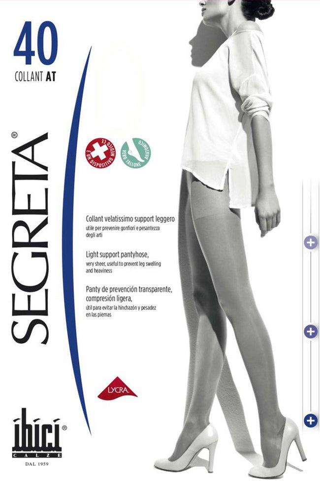 Segreta Collant 40 Support Pantyhose - Spike Angel - 1