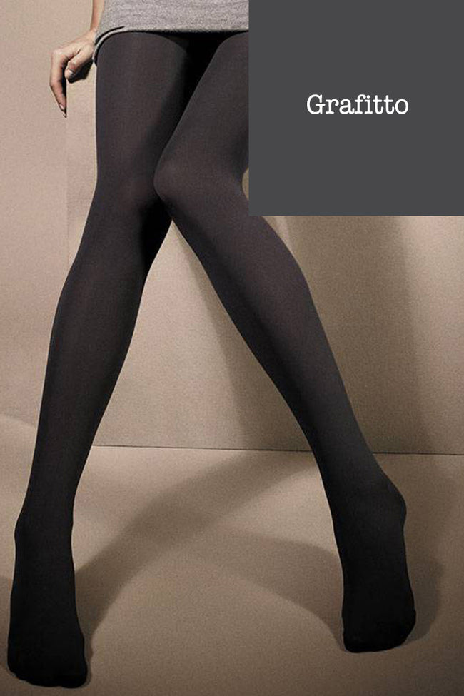 Dimension 50 3D Lycra Half Opaque Pantyhose Tights