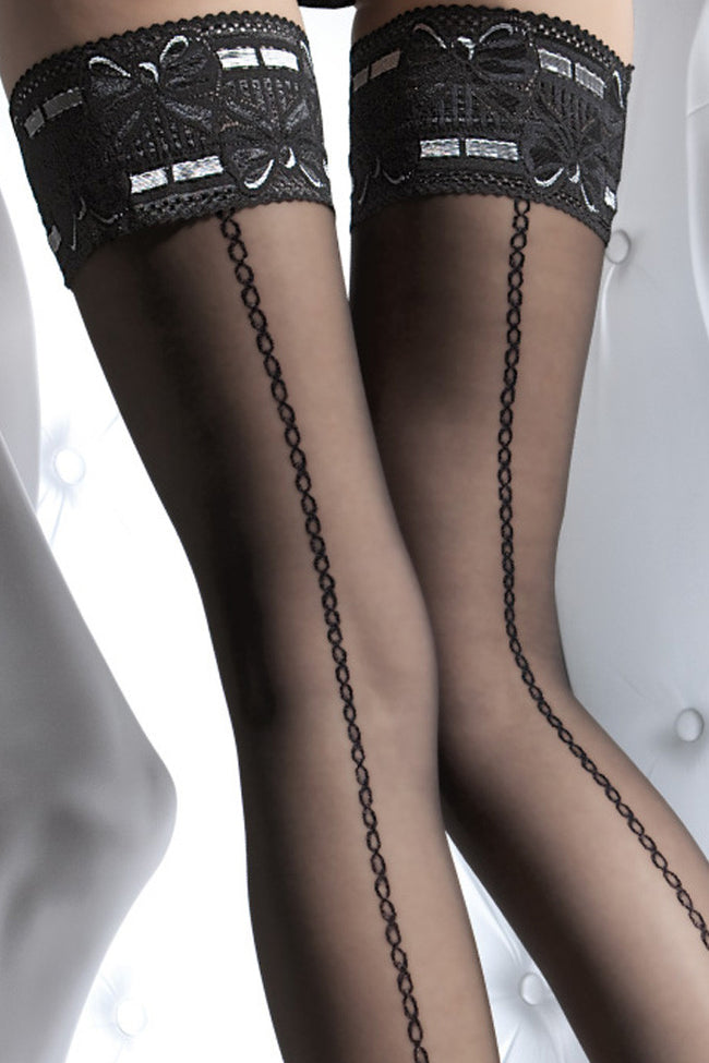 Fiore Melita Lace Top Thigh Highs - Spike Angel - 2