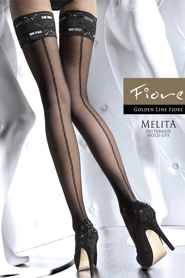 Fiore Melita Lace Top Thigh Highs - Spike Angel - 1