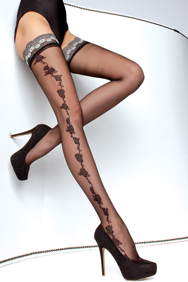 Fiore Marea Lace Top Thigh Highs - Spike Angel - 1