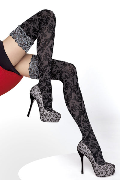 Azalia Patterned Thigh Highs