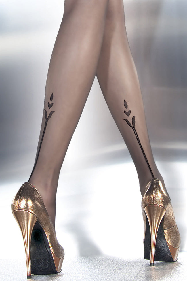 Fiore Angelina Tattoo Pantyhose - Spike Angel - 2