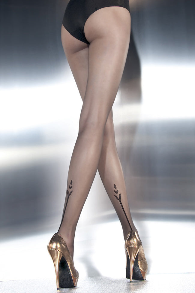 Fiore Angelina Tattoo Pantyhose - Spike Angel - 1
