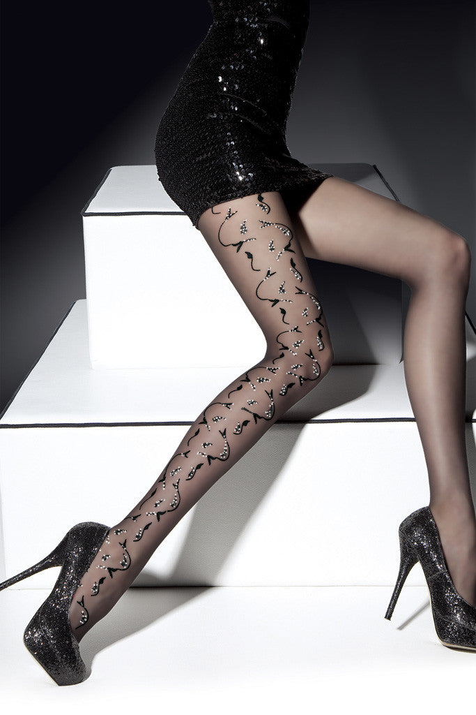 Eliza Patterned Pantyhose
