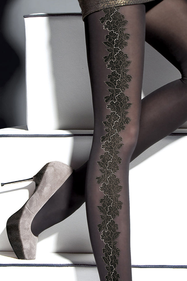 Fiore Sher Patterned Tights - Spike Angel - 3