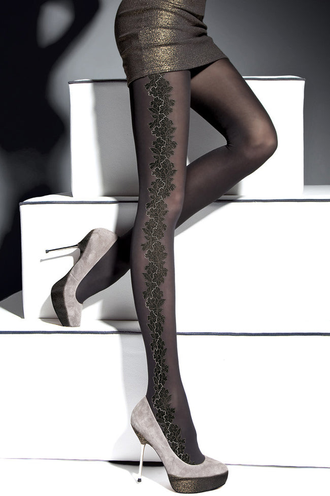 Fiore Sher Patterned Tights - Spike Angel - 1
