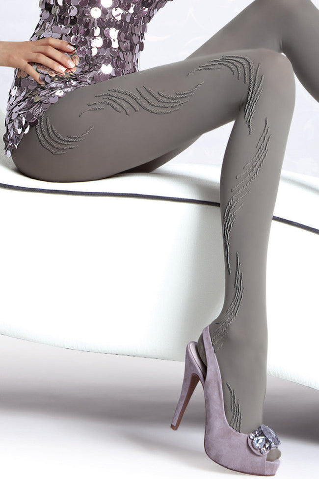 Fiore Oxana Patterned Tights - Spike Angel - 2