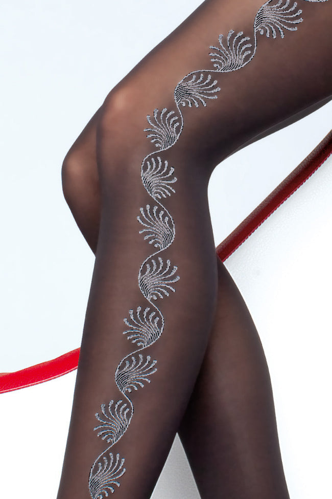 Fiore Trista Patterned Tights - Spike Angel - 3