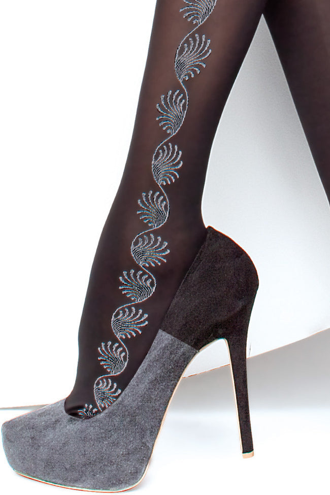 Fiore Trista Patterned Tights - Spike Angel - 4
