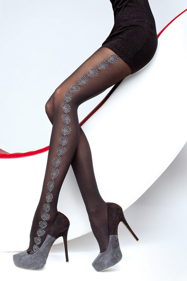 Fiore Trista Patterned Tights - Spike Angel - 1